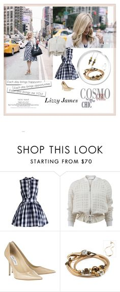 """LizzyJames  1"" by followme734 ❤ liked on Polyvore featuring Kipling, Chicwish, 3.1 Phillip Lim, Jimmy Choo, Lizzy James, jewelry, bracelet, earrings, accessories and 2016"