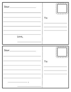 This Is An Outline Of A Postcard To Use With Your Students. Students Can  Design