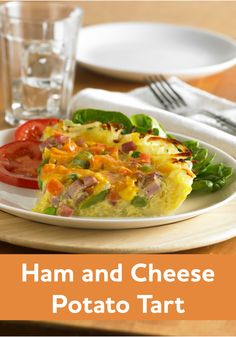 """Ham and Cheese Potato Tart-- """"I have to say, this is one of the best meals I have ever made in my LIFE."""""""