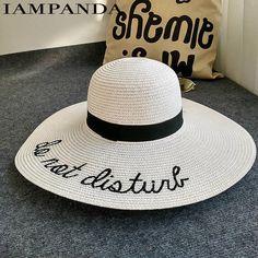 b05e2cd7460 Embroidery Beach Hat. Sun Hats For WomenBeach ...
