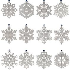 1971–1982 Snowflake Christmas Ornament Set - The Met Store 1000 & 620 5th Avenue