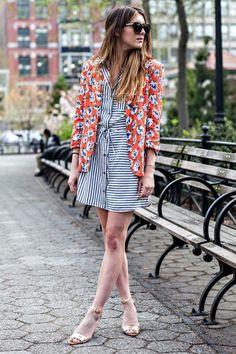 Stripes On Floral   FashionLovers.biz