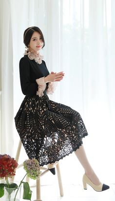 Eyelet Lace Circle SkirtUSD 38.40, From Seoul, Korea. Buy it now at Ministry of Retail Online Fashion Store.