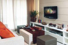 Sim, Senhora!: Inspiração Decoração: Salas de TV Pequenas