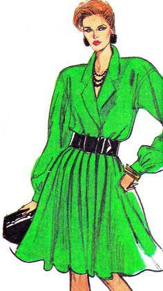 1980s Dress Pattern Simplicity 8801 Pleated Skirt by paneenjerez, $10.00