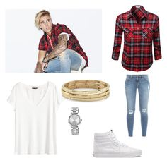 """Cheap inspired Justin Bieber look"" by princesshannah00 on Polyvore featuring Justin Bieber, H&M, Chico's, Vans, Nine West and Frame Denim"