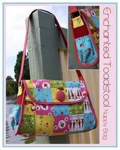 Enchanted Toadstool nappy bag by Melly and Me