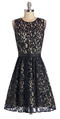 Gorgeous lace fit & flare.... all im sayin is that I would look quite adorable in this.