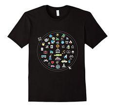 TRAVEL ICONSPEAK WORLD T-Shirt  Black Imagine Apparel