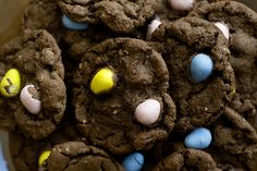 Cadbury mini egg cookies.  HOW is it possible I'd never thought of this before?!
