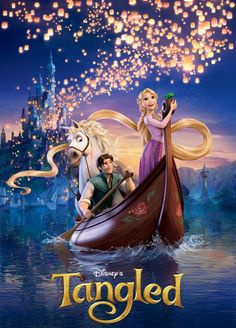 """Walt Disney Animation Studios released this brand new movie poster for the upcoming animated film """"Tangled"""" aka Rapunzel by directors Nathan Greno and Film Rapunzel, Rapunzel Disney, Tangled Movie, Tangled 2010, Princess Rapunzel, Tangled Party, Disney Films, Disney Cartoons, Disney Worlds"""