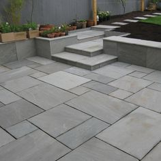 Trendy ideas for grey patio slabs shops Garden Slabs, Garden Tiles, Patio Slabs, Patio Tiles, Garden Paving, Outdoor Tiles, Patio Stone, Driveway Pavers, Stone Patios