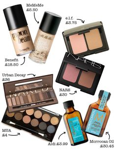 Beauty dupes.
