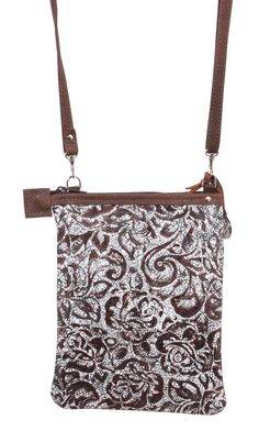 bb34517c984e White floral leather pouch purse by Double J Saddlery...on my shoulder most