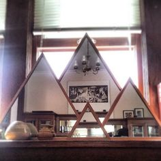 Marvin Freitas Triangle Mirrors I have seen these beautiful triangle mirrors doing the rounds on...