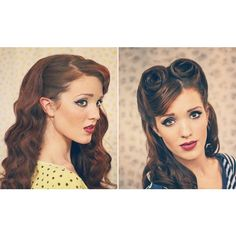 Retro Pin-up Style Hair Tutorials by The Freckled Fox! ❤ liked on Polyvore featuring accessories, hair accessories, pin up hair accessories and retro hair accessories