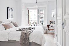 white grey bedroom swedish apartment cococozy