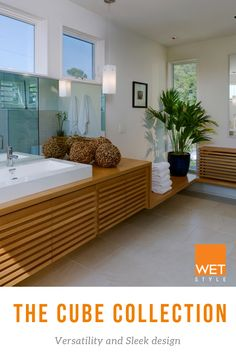 Credit: Studio 27 arch Trough Sink, Vessel Sink, Contemporary Interior Design, Modern Contemporary, Wet Style, Soaking Bathtubs, Bathroom Fixtures, Traditional Design, Cube