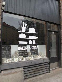 Bakery & spice stockholm storefront bakery, cafe design и sh