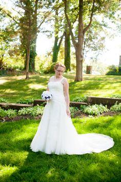 a non-strapless wedding gown from Danielle & Braxton's offbeat NoVa wedding