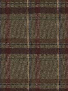 Ralph Lauren Fabric Heathland Plaid-Juniper $123.75 per yard #interiors #decor #plaidfabrics