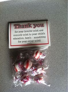 Thank you with mints