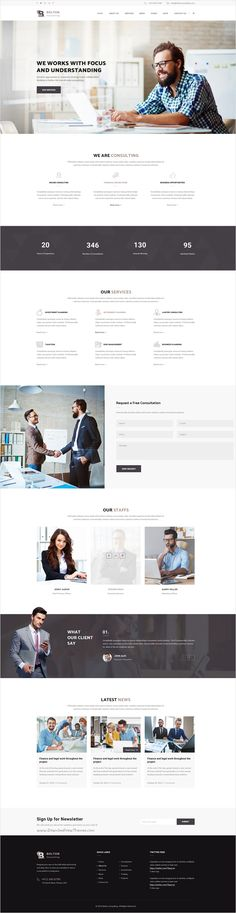 Bolton is a wonderful #PSD #Template suitable for all types of #Consulting businesses website with 3 homepage layouts and 17 PSD pages download now➩ https://themeforest.net/item/bolton-consulting-psd-template/18531904?ref=Datasata