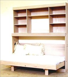 Horizontal Murphy Bed Diy - Beds : Home Design Ideas Bunk Beds With Stairs, Kids Bunk Beds, Loft Spaces, Small Spaces, Murphy-bett Ikea, Horizontal Murphy Bed, Diy Bett, Modern Murphy Beds, Murphy Bed Plans