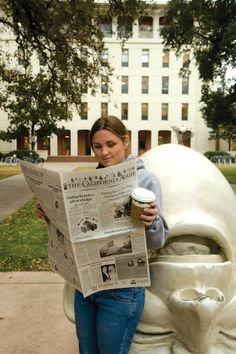 #6 Read an Aggie: The California Aggie is the official student newspaper, published and read since 1915. Great for keeping up with the news. You can find them tucked in random corners of campus, handy to grab on the way to class.