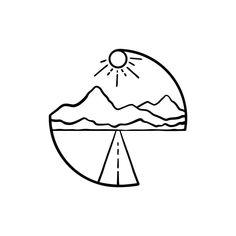 - Minimalist Tattoos Ideas / Black and White Illustrations - . - – Minimalist tattoos ideas / black and white illustrations – … – (notitle) – M - Mini Drawings, Cute Easy Drawings, Pencil Art Drawings, Art Drawings Sketches, Doodle Drawings, Cool Art Drawings, Drawing Ideas, Doodle Tattoo, Doodle Sketch