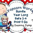 Popcorn Words Complete Set Bundle by Deanna Jump - Popcorn Words Sight Word BundleThis resource is a bundled unit of my Best Selling Popcorn Words Sets 1-4.  This unit lasts an entire year...$  Kindergarten, First Grade