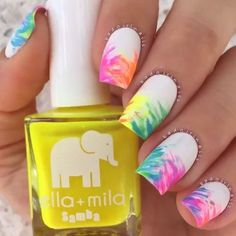 Tropical Nail Art | Rainbow Nails | Summer Nail Designs @shopuniquez