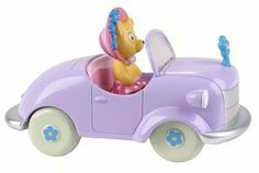 Noddy Vehicle - Tessie Bear Doll Toy by Noddy. $29.99. 12 (l) x 6 (w) x 5 (h) cm. Collect Noddy and his friends with these vehicles, each one includes a free wheeling vehicle and a pose able figure. Made from bright chunky plastic, perfect for toddlers hands to hold. Perfect for Noddy fans, this cute purple car feature Tessie bear. Doll Toys, Dolls, Wheeling, Bear Doll, Toddler Toys, Toddlers, Pose, Fans, Action