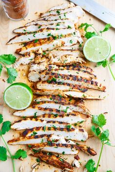 Taco Lime Grilled Chicken - Only 3 ingredients, chicken, lime juice and taco seasoning! -(I make my own 'healthy' seasoning)Perfect for in tacos, on burrito bowls or topping a salad! Healthy Recipes, Clean Recipes, Mexican Food Recipes, Cooking Recipes, Grilling Recipes, Healthy Grilled Chicken Recipes, Grilled Chicken Tacos, Vegetarian Grilling, Healthy Grilling