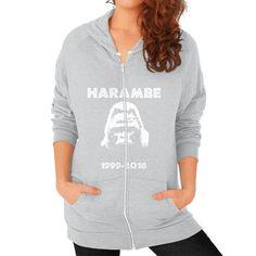 Rip Harambe Zip Hoodie (on woman) Shirt