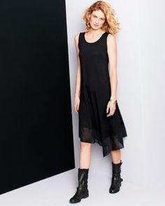 Eileen Fisher Viscose Jersey Scoop-Neck Tank Dress