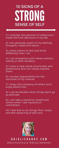 10 signs strong sense of self