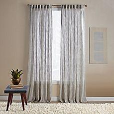 image of Aspire Ikat Rod Pocket/Back Tab Window Curtain Panel