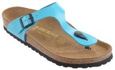 BIRKENSTOCK Gizeh Birko-Flor Blue Lack Sandal Blau 845201/845203