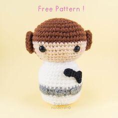 Princess Leia Amigurumi Pattern (Free) ~ Snacksies Handicraft Corner