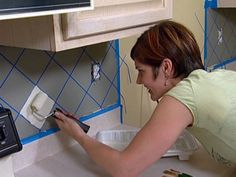 How To Paint A Faux Tile Backsplash
