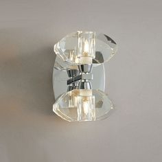 Mantra M0424/S Alfa 2 Light Chrome Switched Wall Fitting