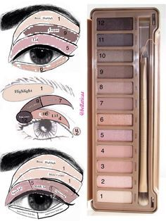 Eyeshadow looks for the Urban Decay Naked 3 palette. Whoo! Some new ideas! This palette is fantastic.