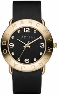 Marc Jacobs black and gold watch