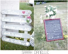 Picked fence seating sign. Love it.