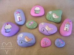 Some days, you just feel like painting rocks. Usually they are the days when you should be doing ten other things like the dishes, planting ...