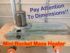 Science Fair Project, Mini Rocket Mass Heater Part 4 - YouTube