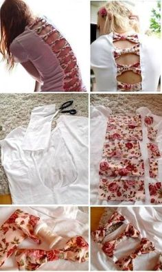 DIY Bow Back T-shirt