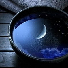 . . . a bowl of midnight ~