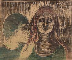 Edvard Munch   Der Kuss auf das Haar   1915   Privatsammlung Courtesy Galleri K, Oslo © Reto Rodolfo Pedrini, Zürich  #AlbertinaMunch #EdvardMunch #Munch #Art #Symbolism    :